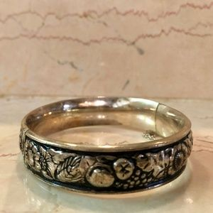 Jewelry - Silver-Toned Engraved Bracelet